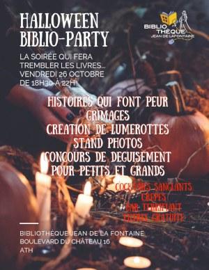 Halloween affiche biblio