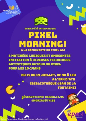 Affiche Pixel Morning